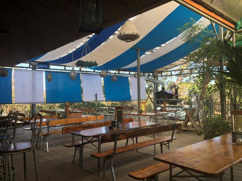 Cafe Europa Biergarten shady terrace